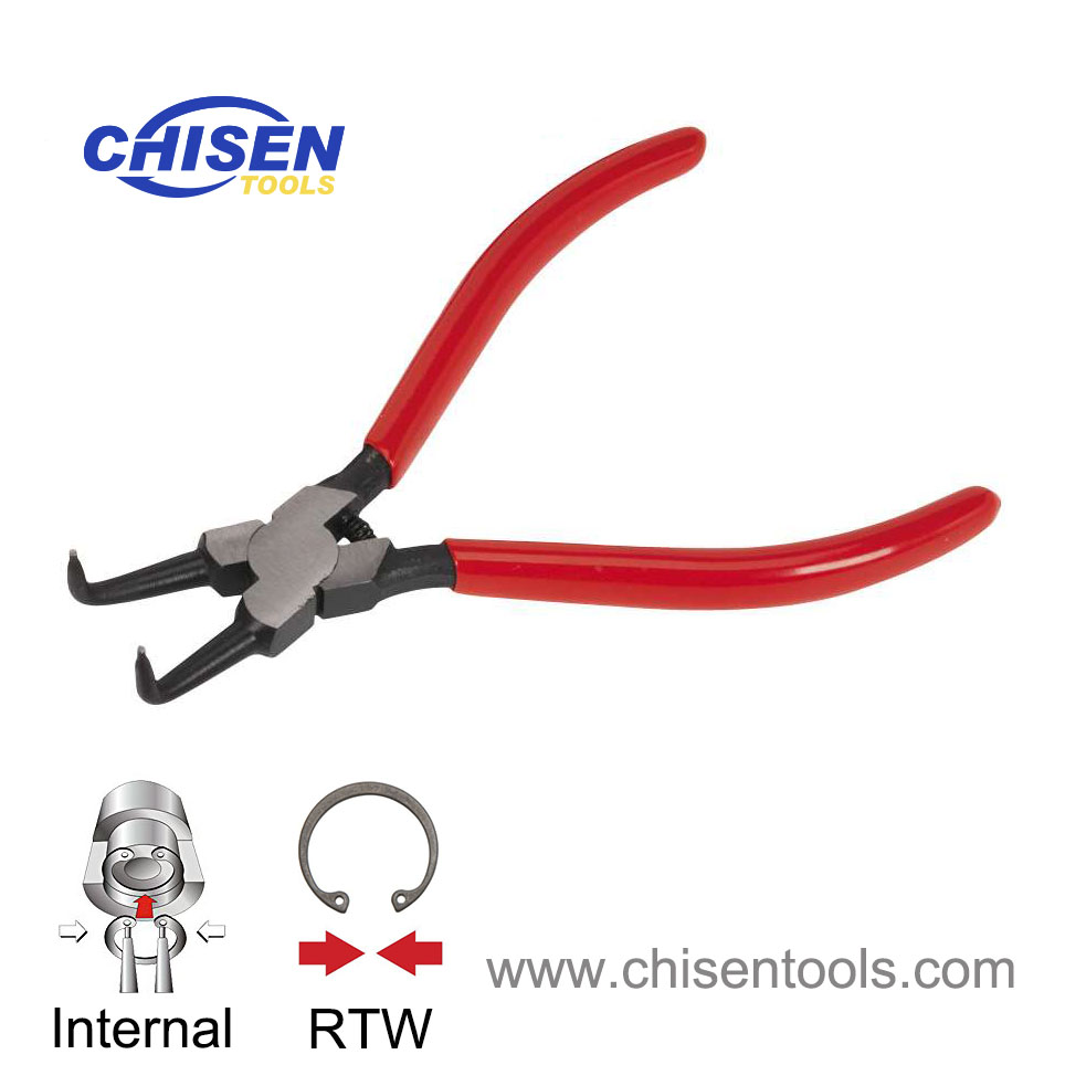 Industrial Grade Internal Snap Ring Pliers, 90° Bent Nose