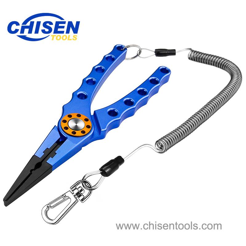 Blue Aluminum Fishing Pliers