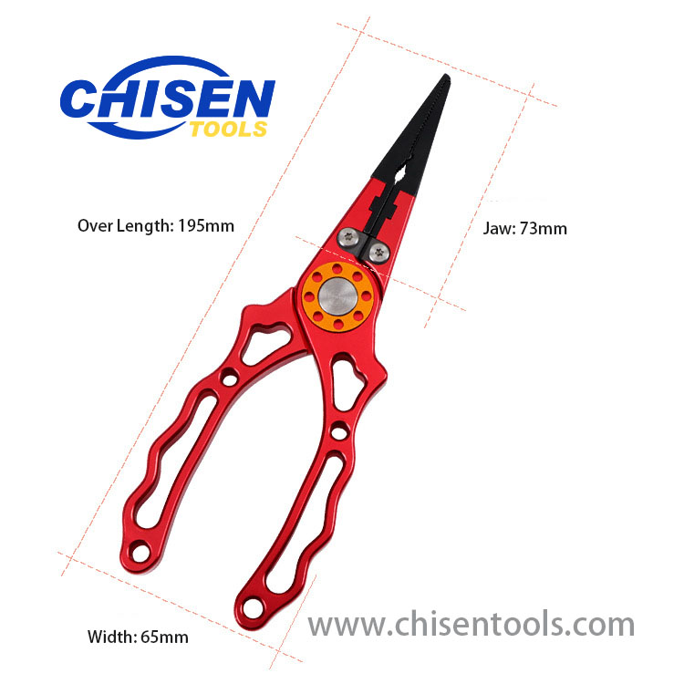 New Type Aluminum Fishing Pliers' Dimension