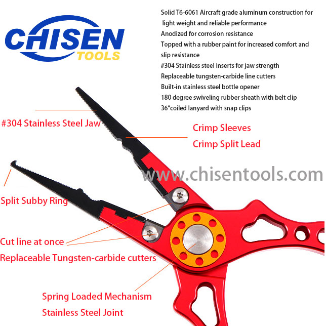New Type Aluminum Fishing Pliers' Function