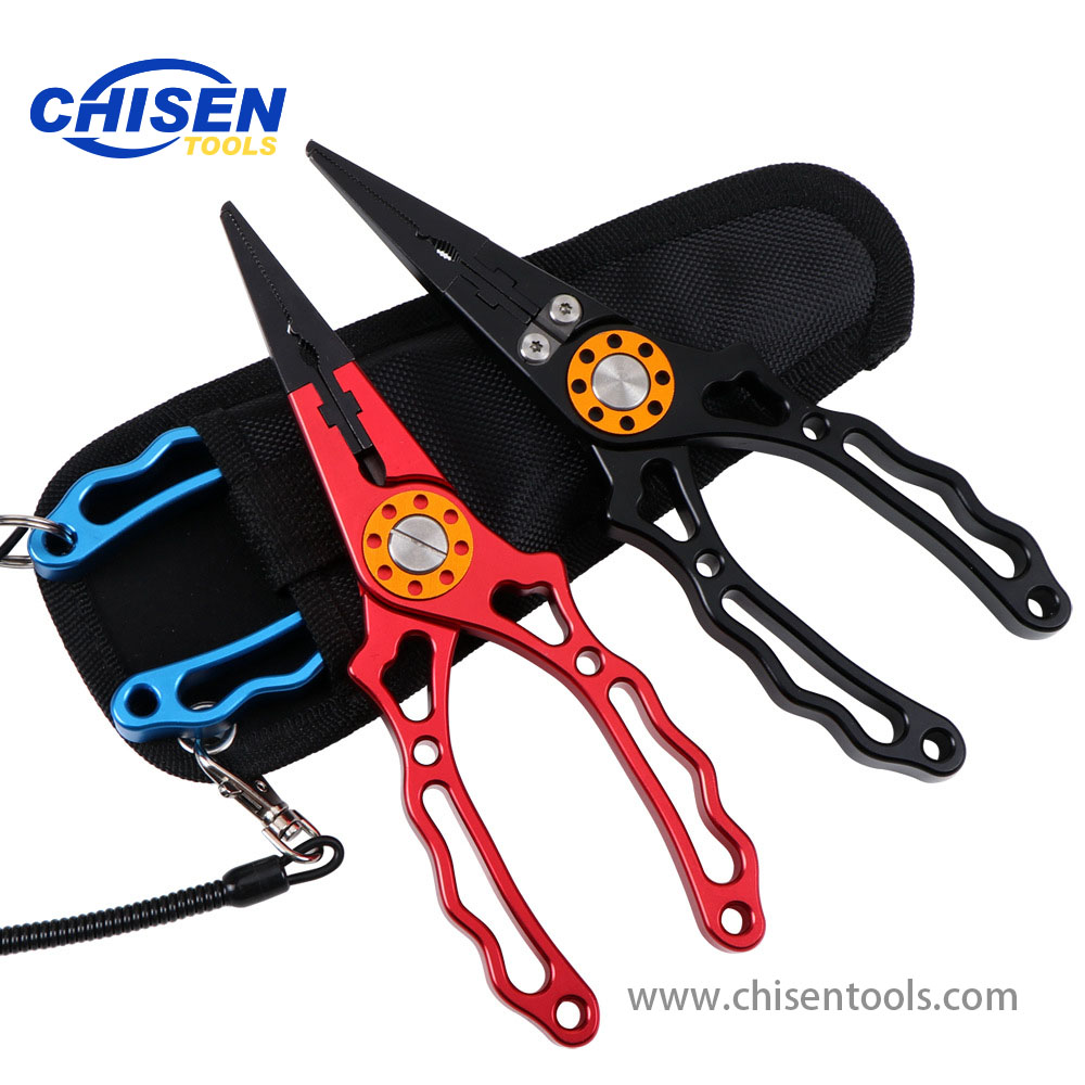 New Type Aluminum Fishing Pliers Red Black