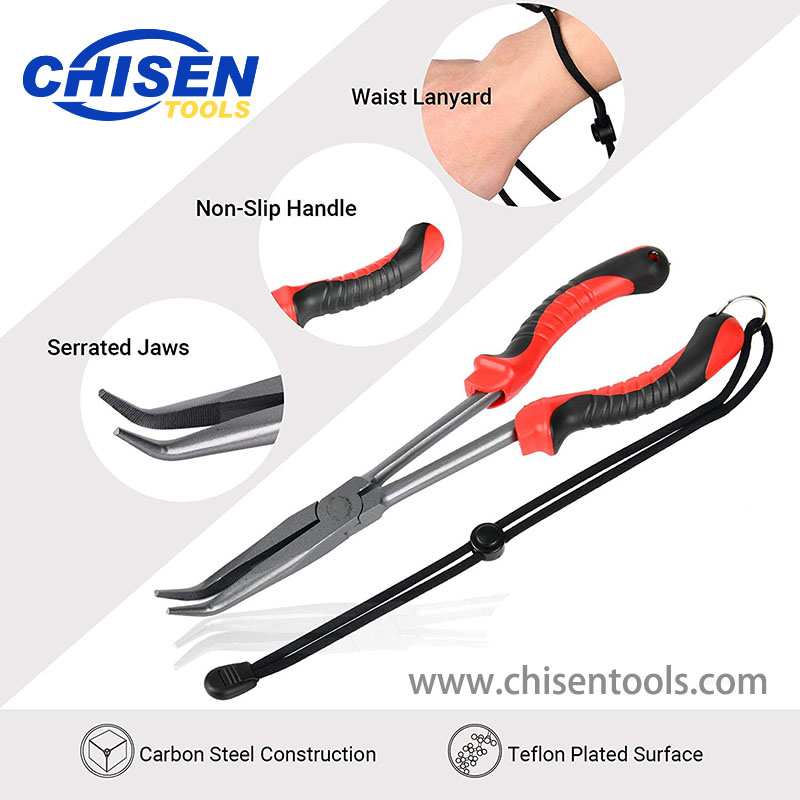 Curved Long Reach Fishing Pliers' Function