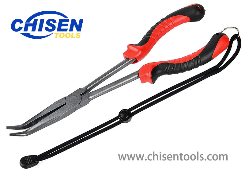 Curved Long Reach Fishing Pliers
