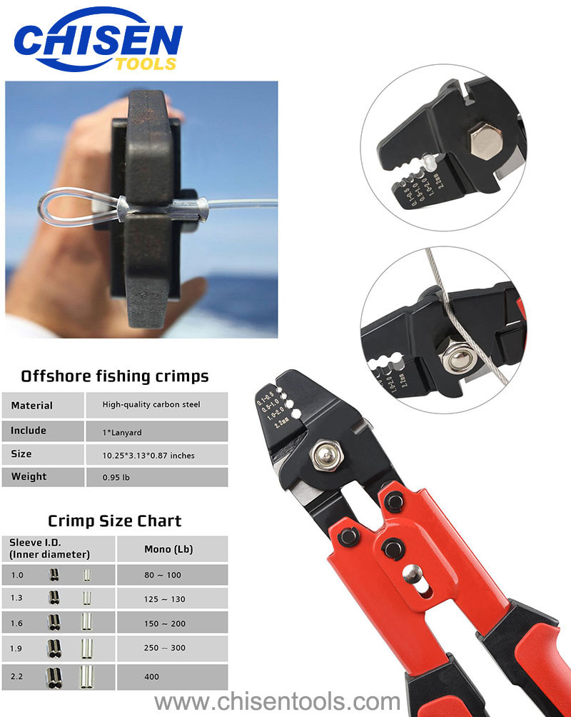 Heavy Duty Fishing Hand Crimping Pliers' Function
