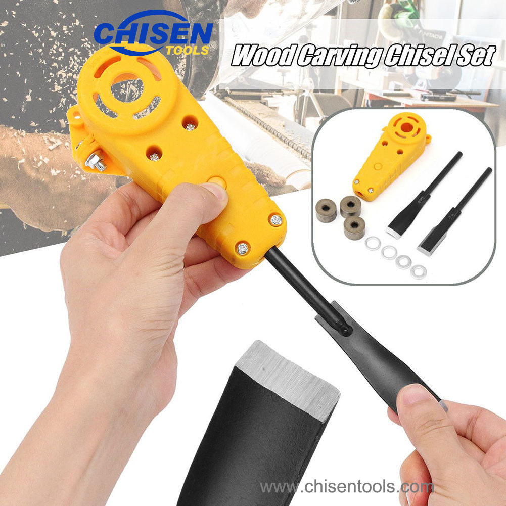 Electric Power Wood Carving Chisel Set for Angle Grinder, How to Change Chisel