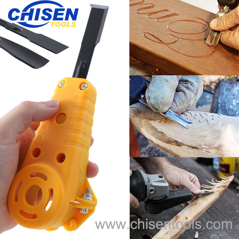 Usage of Electric Power Wood Carving Chisel Set for Angle Grinder